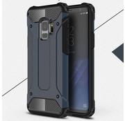 GSMWise Samsung Galaxy S9 - Stevig Hybrid Beschermhoesje Back Case Shockproof - Donker Blauw