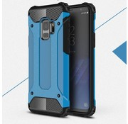 GSMWise Samsung Galaxy S9 - Stevig Hybrid Beschermhoesje Back Case Shockproof - Baby Blauw