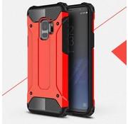 GSMWise Samsung Galaxy S9 - Stevig Hybrid Beschermhoesje Back Case Shockproof - Rood