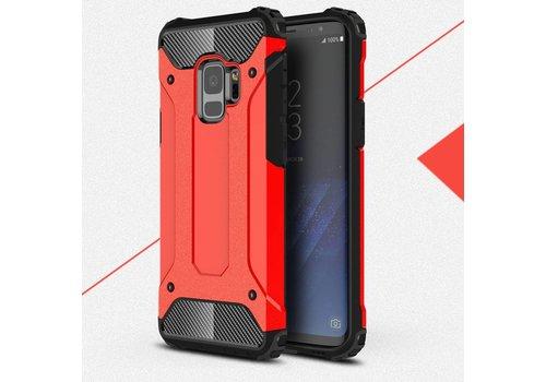 Samsung Galaxy S9 - Stevig Hybrid Beschermhoesje Back Case Shockproof - Rood
