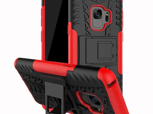 GSMWise Samsung Galaxy S9 - Stevig Hybride Backcover Hoesje Shockproof met Standaard - Rood