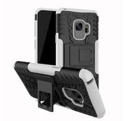 GSMWise Samsung Galaxy S9 - Stevig Hybride Backcover Hoesje Shockproof met Standaard - Wit