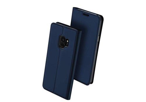 Samsung Galaxy S9 - PU Lederen Bookcase Hoesje met Pashouder - Blauw