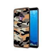 GSMWise Samsung Galaxy S9 - Stevig Hybride Back Case Hoesje Shockproof Camouflage Stijl - Oranje
