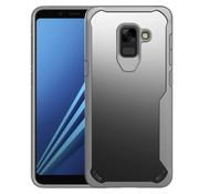 GSMWise Samsung Galaxy A8 (2018) - Hybride PC Acryl en TPU Back Case Hybride - Grijs
