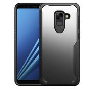 GSMWise Samsung Galaxy A8 (2018) - Hybride PC Acryl en TPU Back Case Hybride - Zwart