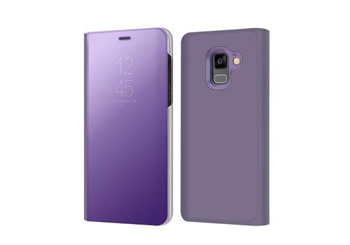 Samsung Galaxy A8 (2018) - Doorzichtige Window View Case - Paars