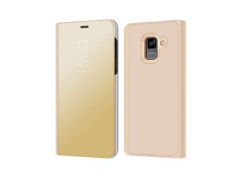 Samsung Galaxy A8 (2018) - Doorzichtige Window View Case - Goud