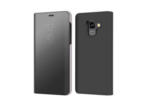 Samsung Galaxy A8 (2018) - Doorzichtige Window View Case - Zwart