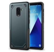GSMWise Samsung Galaxy A8 (2018) - Stevig Backcover Beschermhoesje - Blauw
