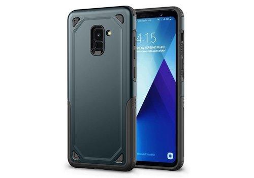 Samsung Galaxy A8 (2018) - Stevig Backcover Beschermhoesje - Blauw