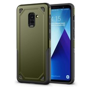 GSMWise Samsung Galaxy A8 (2018) - Stevig Backcover Beschermhoesje - Groen
