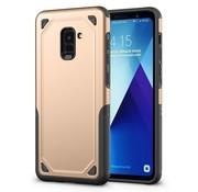GSMWise Samsung Galaxy A8 (2018) - Stevig Backcover Beschermhoesje - Goud