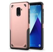 GSMWise Samsung Galaxy A8 (2018) - Stevig Backcover Beschermhoesje - Rose Goud