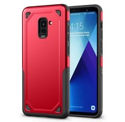 GSMWise Samsung Galaxy A8 (2018) - Stevig Backcover Beschermhoesje - Rood