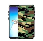 GSMWise Samsung Galaxy A8 (2018) - Stevig Hybride Back Case Hoesje Shockproof Camouflage Stijl - Groen
