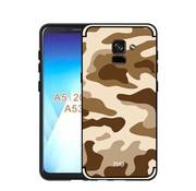 GSMWise Samsung Galaxy A8 (2018) - Stevig Hybride Back Case Hoesje Shockproof Camouflage Stijl - Bruin