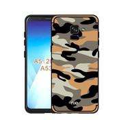GSMWise Samsung Galaxy A8 (2018) - Stevig Hybride Back Case Hoesje Shockproof Camouflage Stijl - Oranje