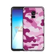 GSMWise Samsung Galaxy A8 (2018) - Stevig Hybride Back Case Hoesje Shockproof Camouflage Stijl - Roze