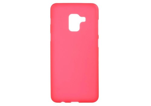 Samsung Galaxy A8 (2018) - Zachte Frosted TPU Anti-slip Back Case - Rood