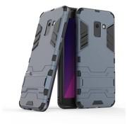 GSMWise Samsung Galaxy A8 (2018) - Ultra Hybride Hard Case met standaard - Donker Blauw
