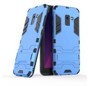 GSMWise Samsung Galaxy A8 (2018) - Ultra Hybride Hard Case met standaard - Baby Blauw
