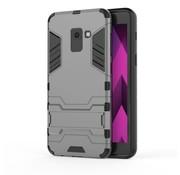 GSMWise Samsung Galaxy A8 (2018) - Ultra Hybride Hard Case met standaard - Grijs