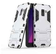GSMWise Samsung Galaxy A8 (2018) - Ultra Hybride Hard Case met standaard - Zilver