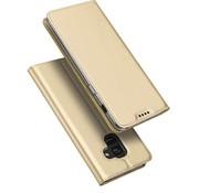 GSMWise Samsung Galaxy A8 (2018) - PU Lederen Bookcase Hoesje met Pashouder - Goud