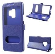 GSMWise Samsung Galaxy S9 - Slim Book Window View Case met Venster - Blauw