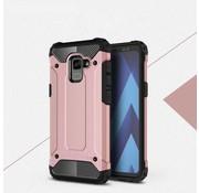 GSMWise Samsung Galaxy A8 (2018) - Stevig Hybrid Beschermhoesje Back Case Shockproof - Rose Goud
