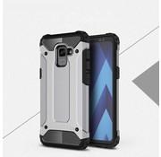 GSMWise Samsung Galaxy A8 (2018) - Stevig Hybrid Beschermhoesje Back Case Shockproof - Grijs