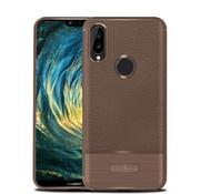 GSMWise Huawei P20 Lite - Zachte Lychee Geborsteld Flexibele TPU Hoesje Back Case - Bruin