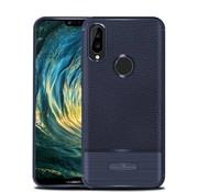 GSMWise Huawei P20 Lite - Zachte Lychee Geborsteld Flexibele TPU Hoesje Back Case - Blauw