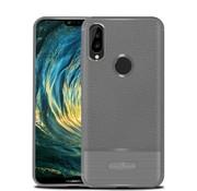 GSMWise Huawei P20 Lite - Zachte Lychee Geborsteld Flexibele TPU Hoesje Back Case - Grijs