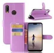 GSMWise Huawei P20 Lite - Lychee PU Lederen Portemonnee Case - Paars