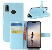 GSMWise Huawei P20 Lite - Lychee PU Lederen Portemonnee Case - Blauw