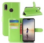 GSMWise Huawei P20 Lite - Lychee PU Lederen Portemonnee Case - Groen