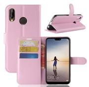 GSMWise Huawei P20 Lite - Lychee PU Lederen Portemonnee Case - Roze