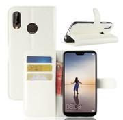 GSMWise Huawei P20 Lite - Lychee PU Lederen Portemonnee Case - Wit