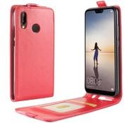 GSMWise Huawei P20 Lite - PU lederen Flip Hoesje Case met Kaarthouder en Fotohouder - Rood