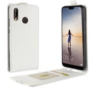 GSMWise Huawei P20 Lite - PU lederen Flip Hoesje Case met Kaarthouder en Fotohouder - Wit