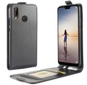 GSMWise Huawei P20 Lite - PU lederen Flip Hoesje Case met Kaarthouder en Fotohouder - Zwart