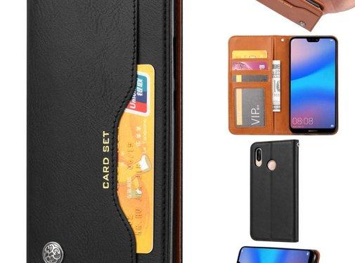 GSMWise Huawei P20 Lite - PU lederen Portemonnee hoesje - Zwart