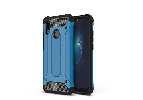 Huawei P20 Lite - Stevig Hybrid Beschermhoesje Back Case Shockproof - Baby Blauw