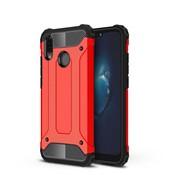 GSMWise Huawei P20 Lite - Stevig Hybrid Beschermhoesje Back Case Shockproof - Rood