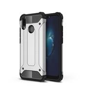 GSMWise Huawei P20 Lite - Stevig Hybrid Beschermhoesje Back Case Shockproof - Zilver