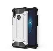 GSMWise Huawei P20 Lite - Stevig Hybrid Beschermhoesje Back Case Shockproof - Wit