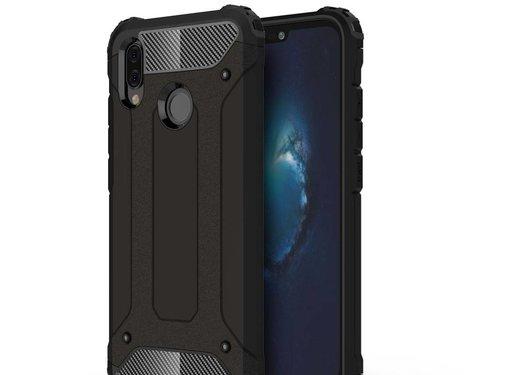 GSMWise Huawei P20 Lite - Stevig Hybrid Beschermhoesje Back Case Shockproof - Zwart