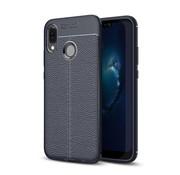 GSMWise Huawei P20 Lite - Zachte Lychee Flexibele TPU Hoesje Back Case - Blauw